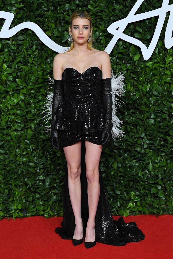 Emma RobertsThe Fashion Awards, Arrivals, Royal Albert Hall, London, UK - 02 Dec 2019