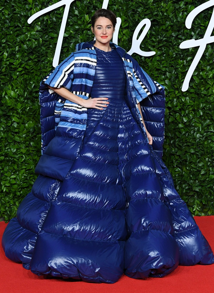 Shailene Woodley, puffer gown, Pierpaolo Piccioli x Moncler x Lemlem, The Fashion Awards, Arrivals, Royal Albert Hall, London, UK - 02 Dec 2019