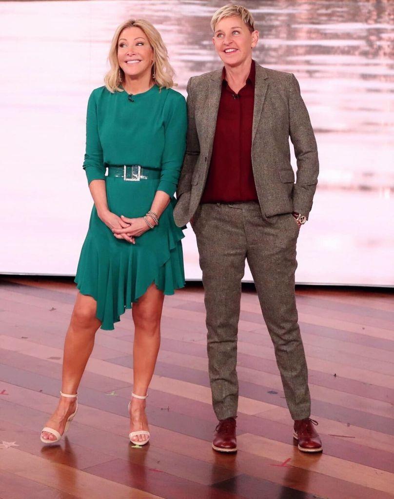 ellen DeGeneres, kym davis, ellen show, pashion footwear, convertible high heels