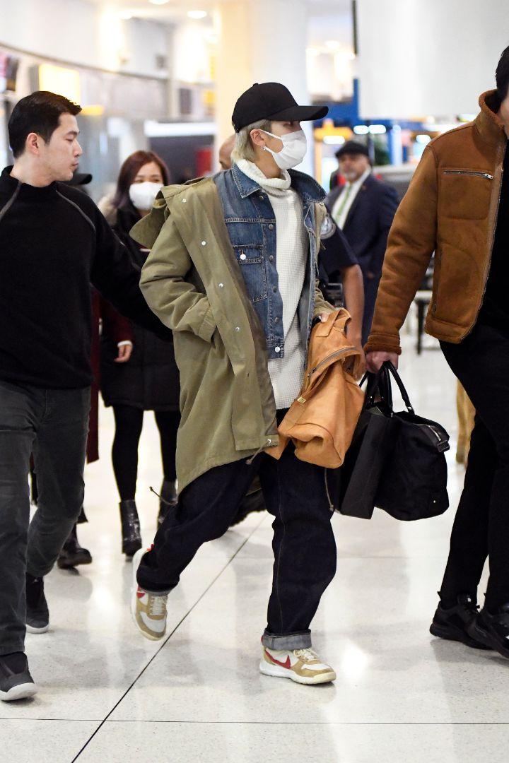 bts, jfk, airport, new york, jin, Suga, J-Hope, RM, Jimin, V, Jungkook