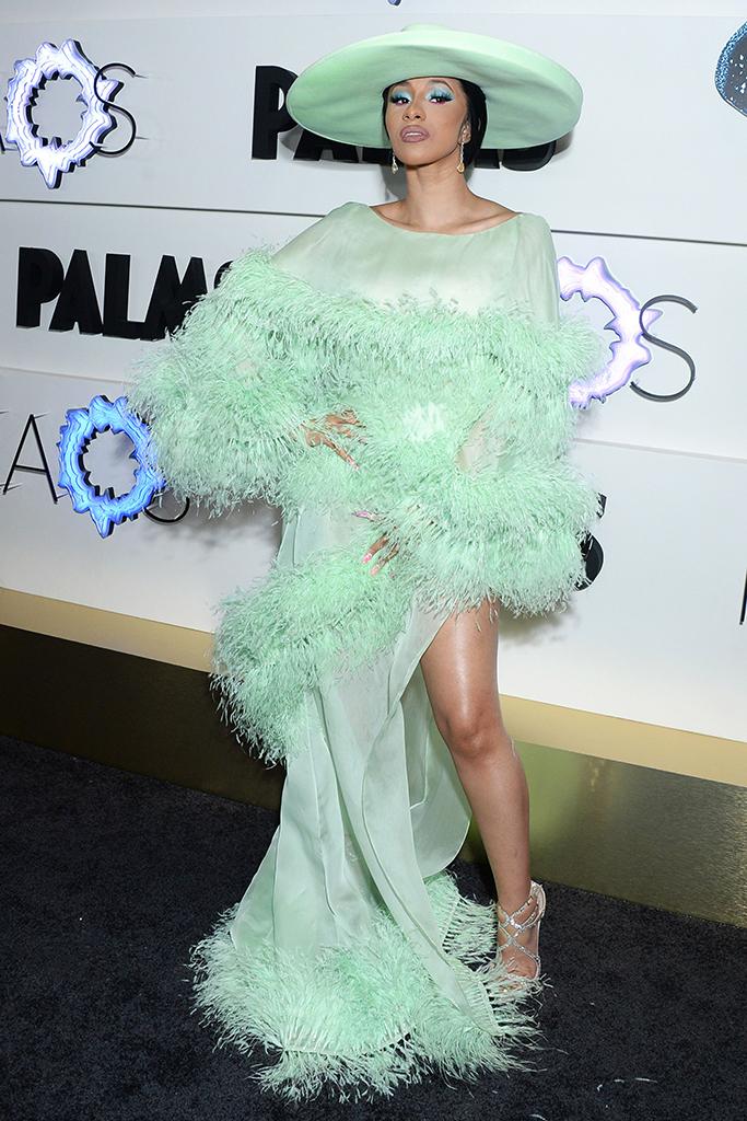 Cardi BKAOS Grand Opening, Day 2, Palms Casino Resort, Las Vegas, USA - 06 Apr 2019Wearing Ralph & Russo same outfit as catwalk model *10068396az