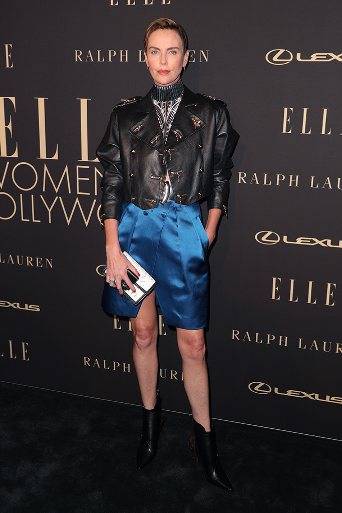Charlize TheronElle Women in Hollywood, Arrivals, Four Seasons Hotel, Los Angeles, USA - 14 Oct 2019Wearing Louis Vuitton same outfit as catwalk model *10231796q