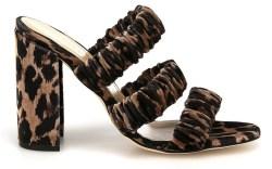 Chloe Gosselin, leopard-print, mules, sandals