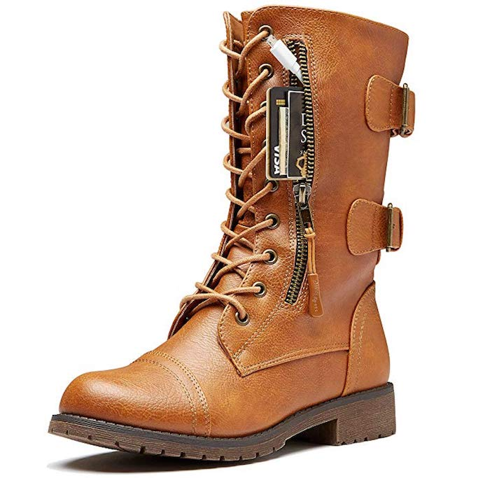 DailyShoes-Buckled-Combat-Boot-Amazon
