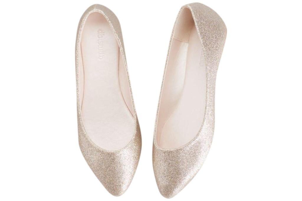 david's bridal antonia Allover Glitter Pointed Toe Flats