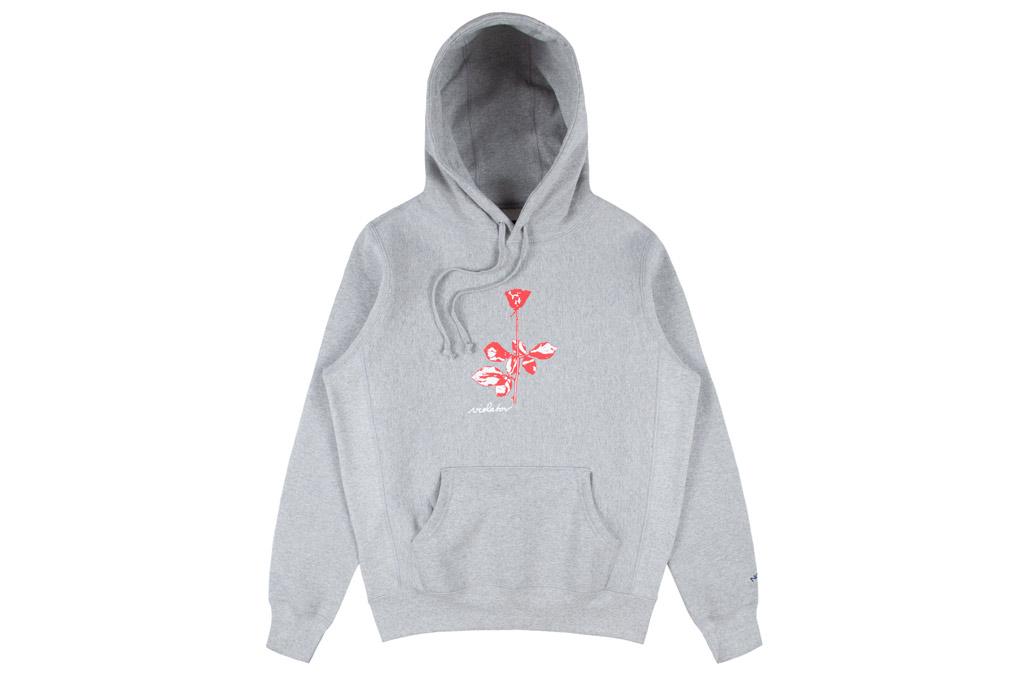 NOAH x Depeche Mode , noah, depeche mode, gray hoodie, hooded sweatshirt