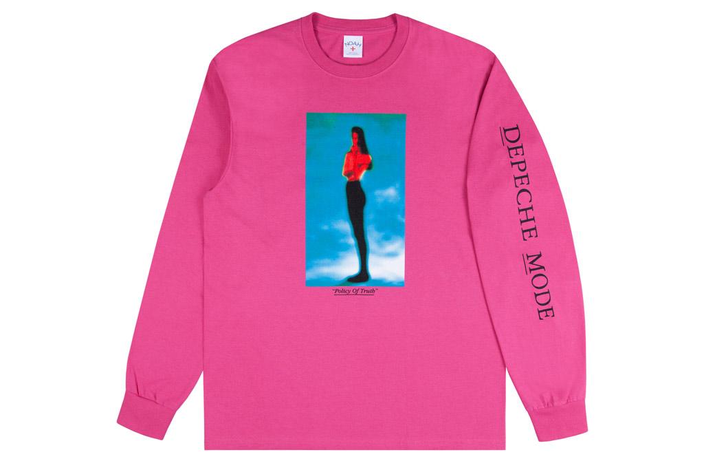 NOAH x Depeche Mode, noah, depeche mode, pink t shirt, long sleeve