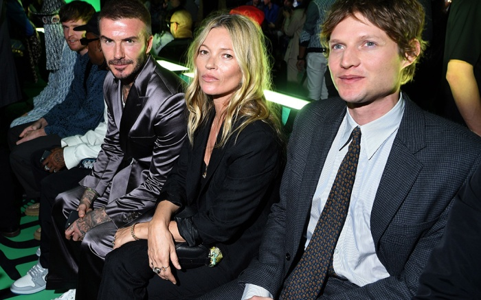 David Beckham, Kate Moss and Nikolai von Bismarck in the front rowDior Men's Show, Front Row, Pre-Fall 2020, Miami, USA - 03 Dec 2019