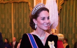Catherine Duchess of Cambridge talks to