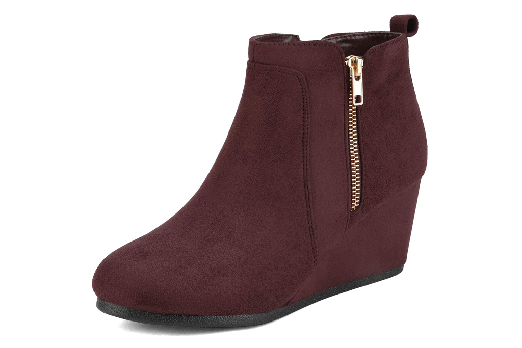 dream pairs hidden wedge booties