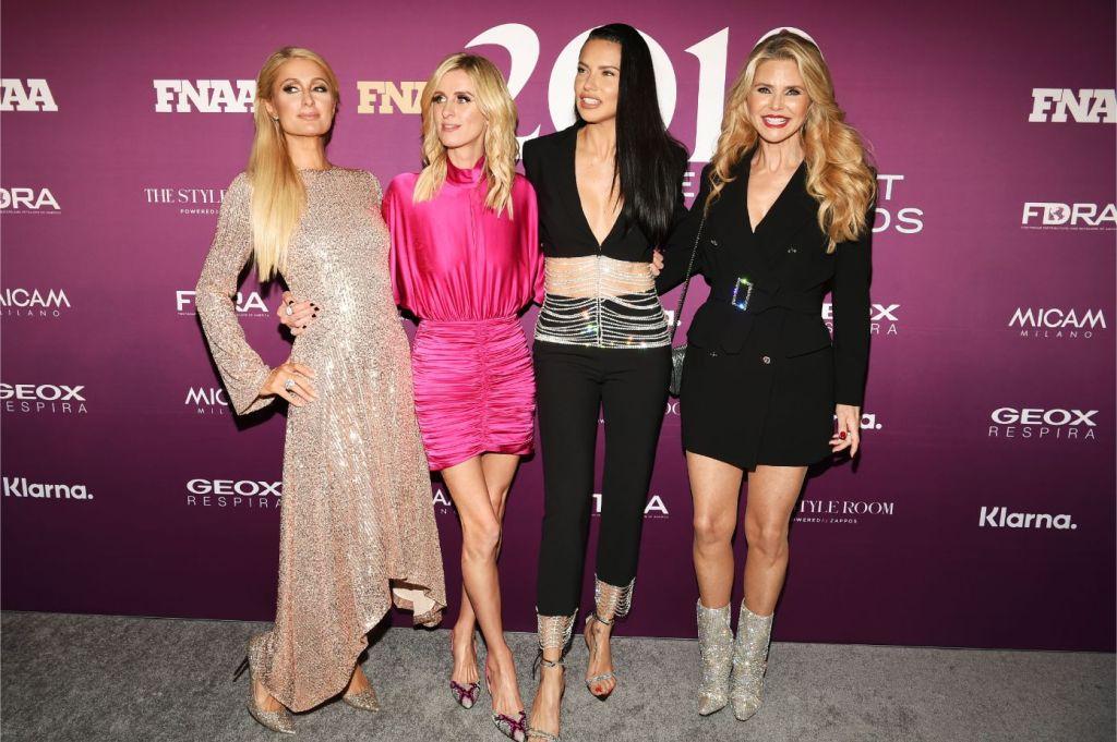 Paris Hilton, Nicky Hilton, Adriana Lima and Christie Brinkley, fnaas, 2019
