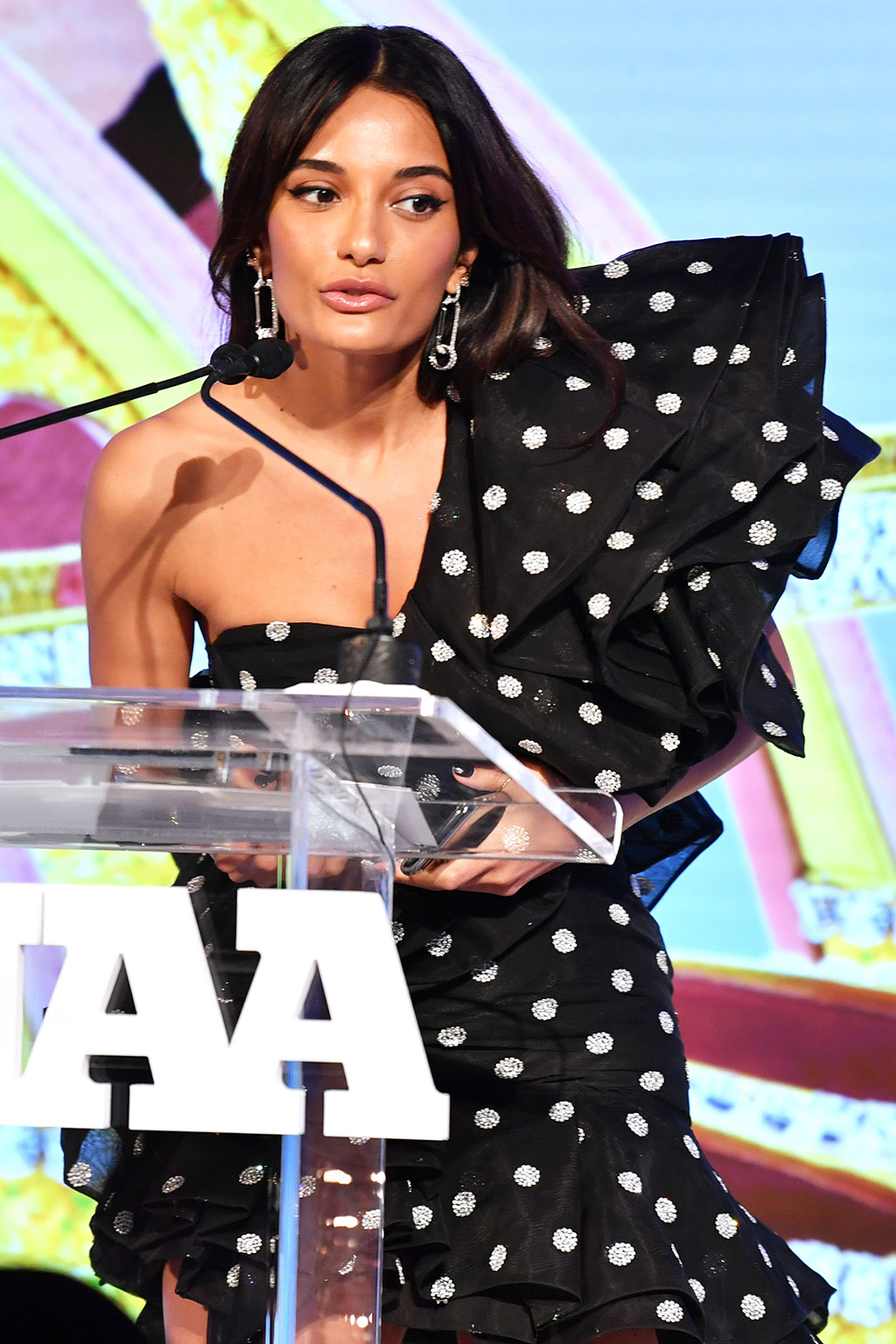 Amina Muaddi33rd Annual Footwear News Achievement Awards, Inside, New York, USA - 03 Dec 2019