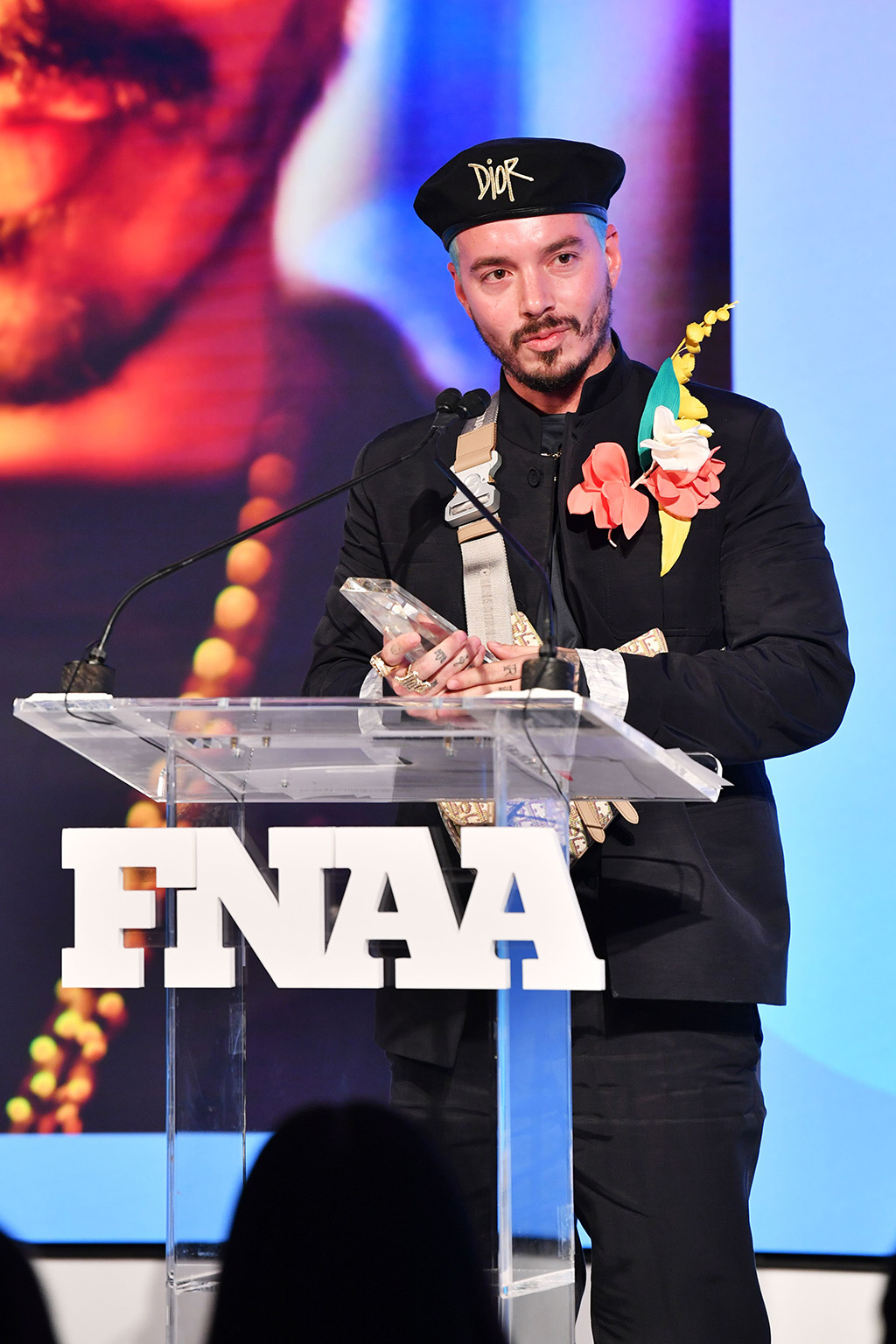 J Balvin33rd Annual Footwear News Achievement Awards, Inside, New York, USA - 03 Dec 2019