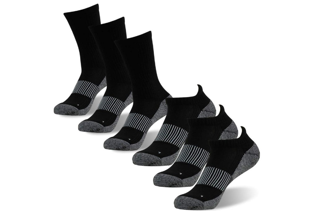 foot plus Copper Athletic Ankle Crew Running Socks
