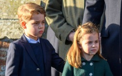 Prince George, Princess Charlotte, christmas, church,