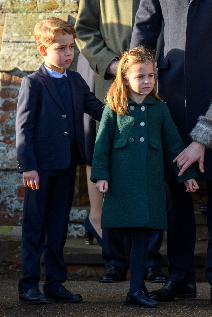 Prince George , princess charlotte, Catherine Duchess of CambridgeChristmas Day church service, Sandringham, Norfolk, UK - 25 Dec 2019
