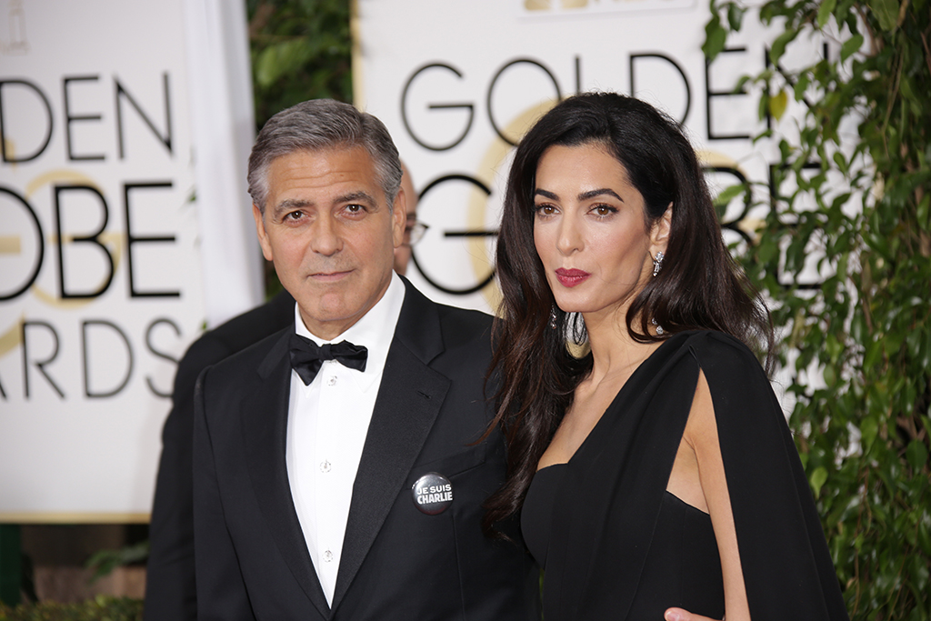 George Clooney and Amal Clooney72nd Annual Golden Globe Awards, Arrivals, Los Angeles, America - 11 Jan 2015