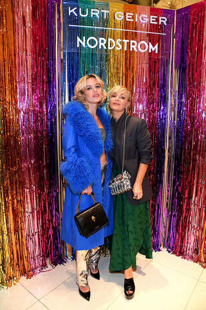NEW YORK, NEW YORK - DECEMBER 11: Georgia May Jagger (L) and Kurt Geiger Creative Director Rebecca Farrar-Hockley attend the Nordstrom x Kurt Geiger Holiday Party, hosted by Georgia May Jagger, on December 11, 2019 in New York City. (Photo by Kevin Mazur/Getty Images for Kurt Geiger)