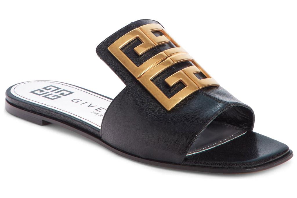 Givenchy , 4G logo, sandal slides.