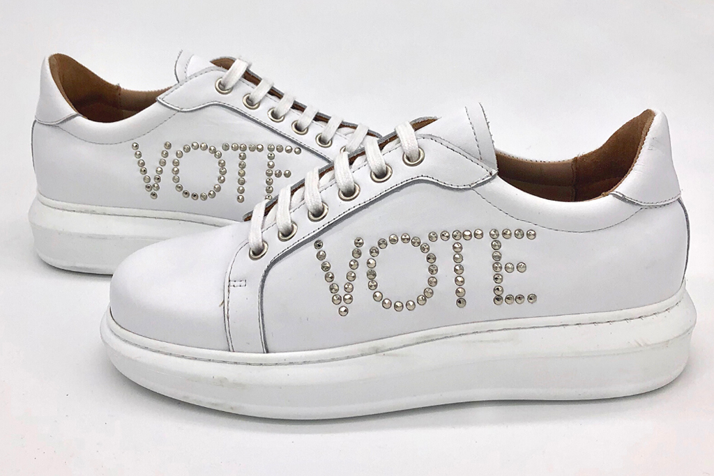 Canvass sneaker, i am moi, vote, sneakers