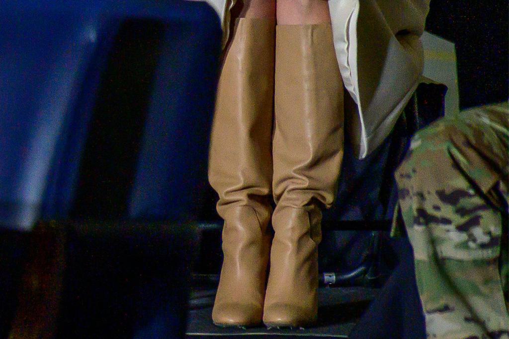 ivanka trump, brown boots, base, military, defense at