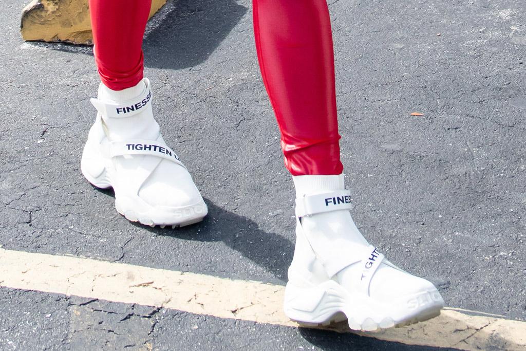 The Kooples x Slick Woods, j-lo, jennifer lopez, workout shoes, miami,