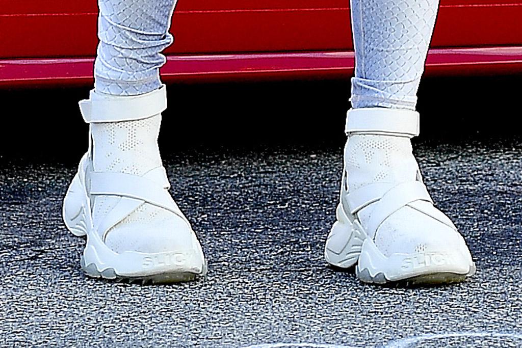 Jennifer Lopez, j-lo, the kooples x slick woods, high-top sneakers, florida, december 2019