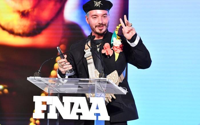 J Balvin33rd Annual Footwear News Achievement Awards, Inside, New York, USA - 03 Dec 2019