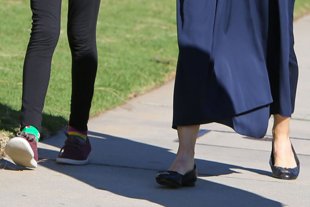 Seraphina Affleck, jennifer garner, shoe detail, celebrity style