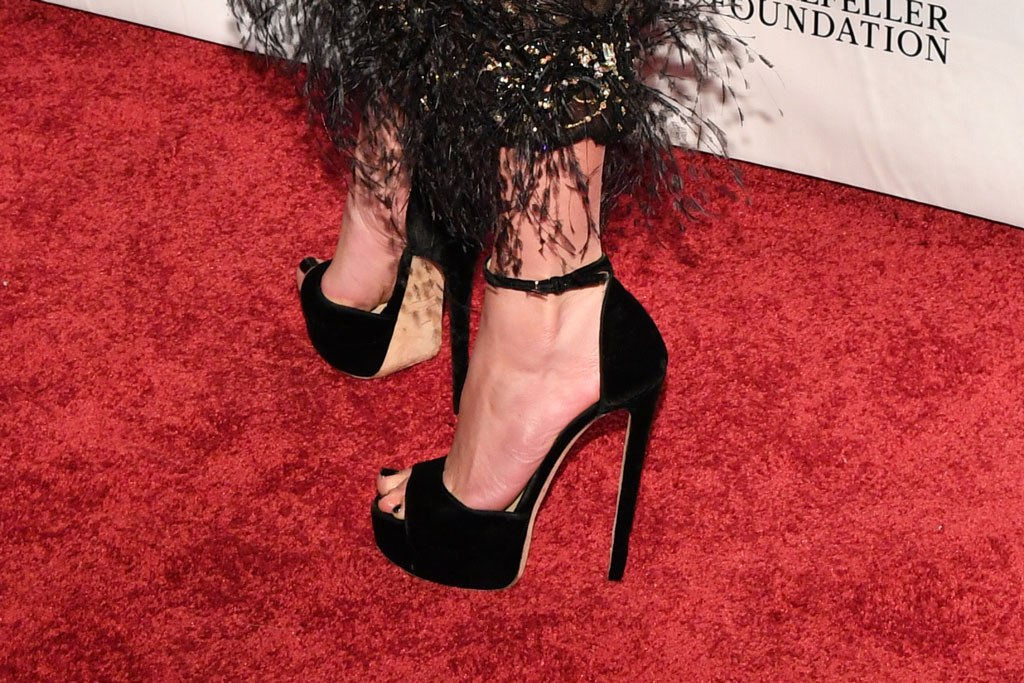 Jennifer Lopez , toes, pedicure, red carpet, gotham awards, shoe detail, j-lo, jimmy choo platform sandals, jimmy choo shoes, attends the Independent Filmmaker Project's 29th annual IFP Gotham Awards at Cipriani Wall Street, in New York2019 IFP Gotham Awards - Arrivals, New York, USA - 02 Dec 2019