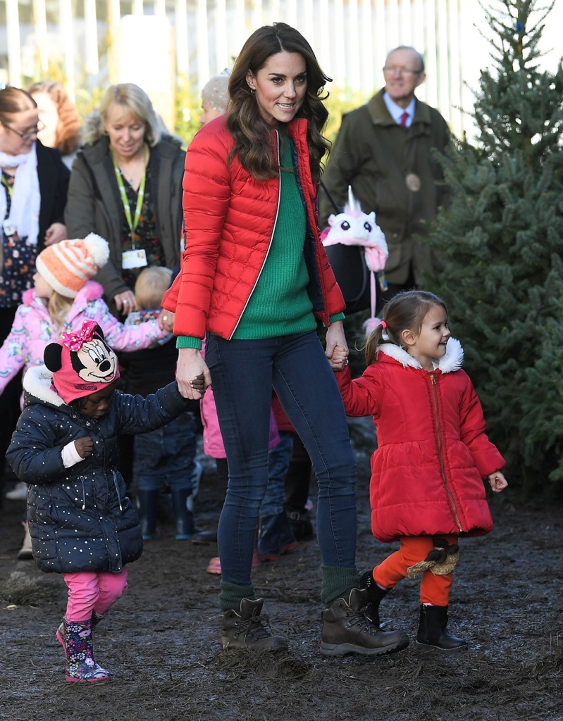 kate middleton, skinny jeans, berghaus boots, brown boots, waterproof boots, hiker boots, green sweater, puffer jacket, perfect moment parka, Catherine Duchess of CambridgeCatherine Duchess of Cambridge marks new patronage of Family Action, Peterley Manor Farm, Great Missenden, Buckinghamshire, UK - 04 Dec 2019To mark The Duchess of Cambridge's new patronage of Family Action, Her Royal Highness will visit . Peterley Manor Farm in Buckinghamshire where she will join families and children who are supported by the charity taking part in Christmas activities Wearing Perfect Moment, Jacket, Worn Before