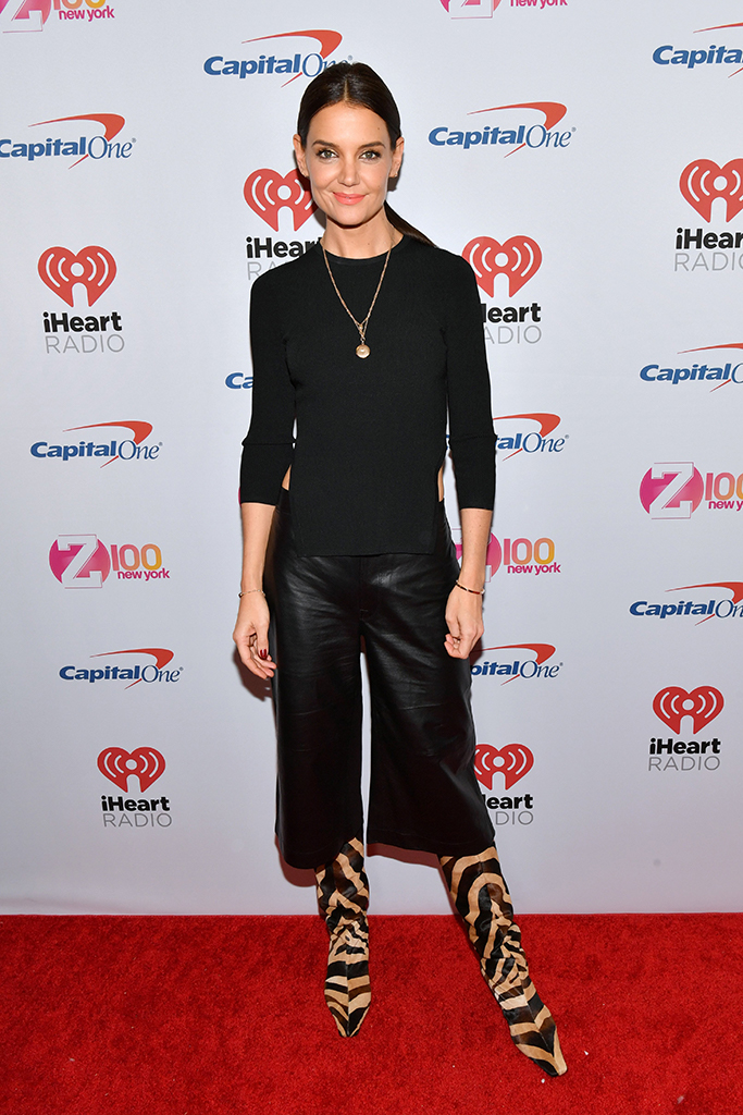 Katie Holmes, red carpet arrivals, 2019 Jingle Ball NYC