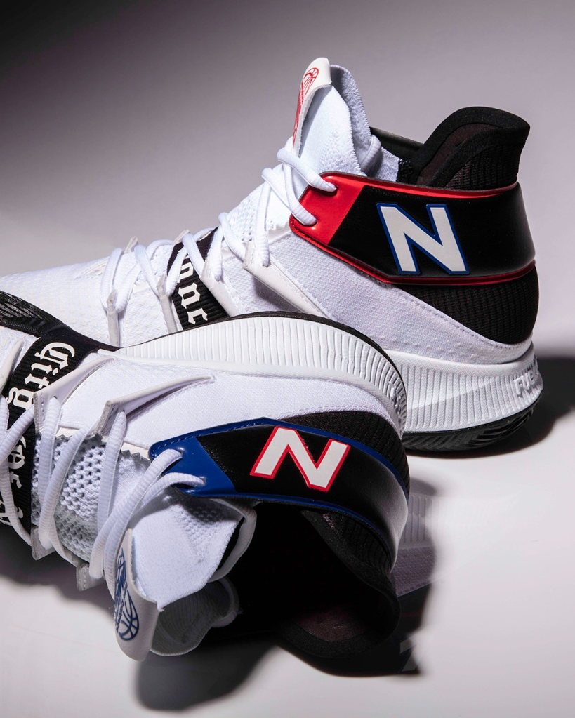 New Balance, kawhi leonard, signature shoes, omn1s, city of angeles, black and white sneaker, basketball shoes