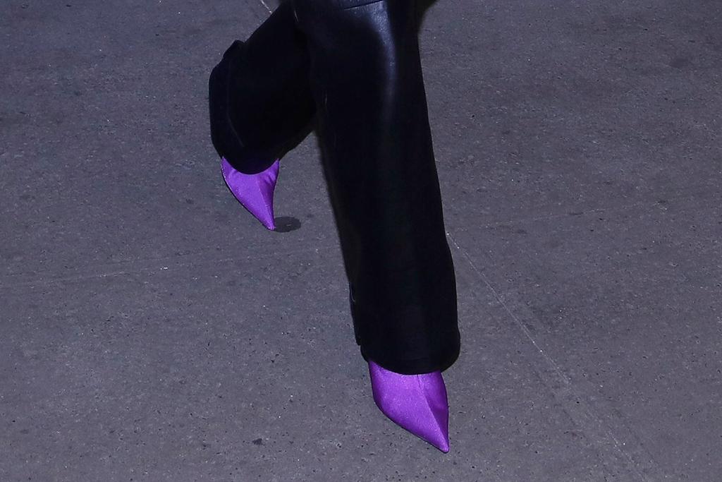 kim kardashian, kanye west, nutcracker, purple shoes