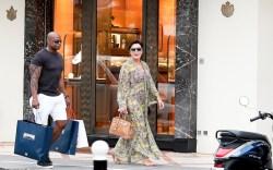 Kris Jenner and Corey Gamble seen