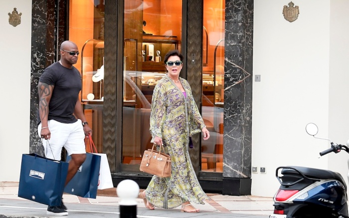 Kris Jenner and Corey Gamble seen enjoying the day in the sun in St Barths. 28 Dec 2019 Pictured: Kris Jenner and Corey Gamble. Photo credit: Spread Pictures / MEGA TheMegaAgency.com +1 888 505 6342 (Mega Agency TagID: MEGA574759_012.jpg) [Photo via Mega Agency]