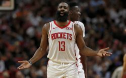 Houston Rockets guard James Harden (13)