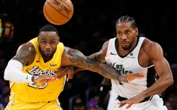 LeBron James Los Angeles Lakers Kawhi