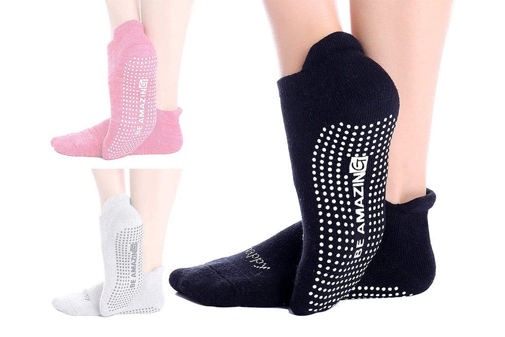live happy, grip socks