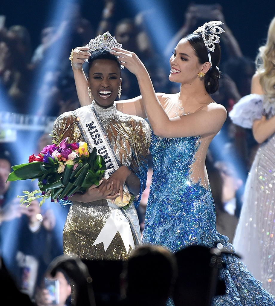 Zozibini Tunzi, Miss Universe, miss south africa, Catriona Gray, miss universe 2018, miss philippines, Competition, Show, Tyler Perry Studios, Atlanta, USA - 08 Dec 2019