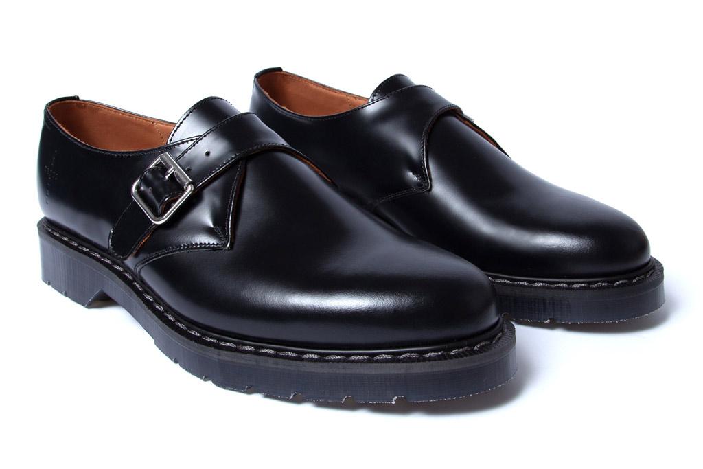 NOAH , depeche mode, collaboration, monkstrap shoes, black leather loafers