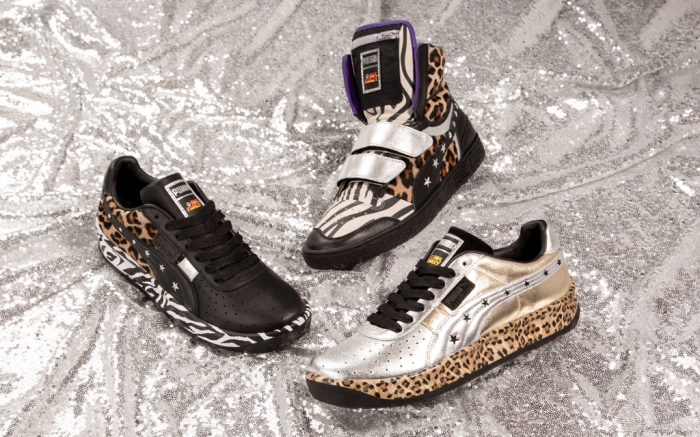 puma, paul stanley, sneakers, collab, animal print, kiss