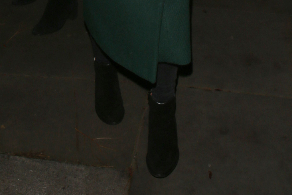 Pippa Middleton, black boots, green coat, forest green, red sweater, christmas colors, christmas concert, black suede ankle boots, booties, black crossbody bag, royal style, kate middleton sister, The Henry van Straubenzee Memorial Fund Christmas Carol Service, St Lukes Church, London, UK - 04 Dec 2019