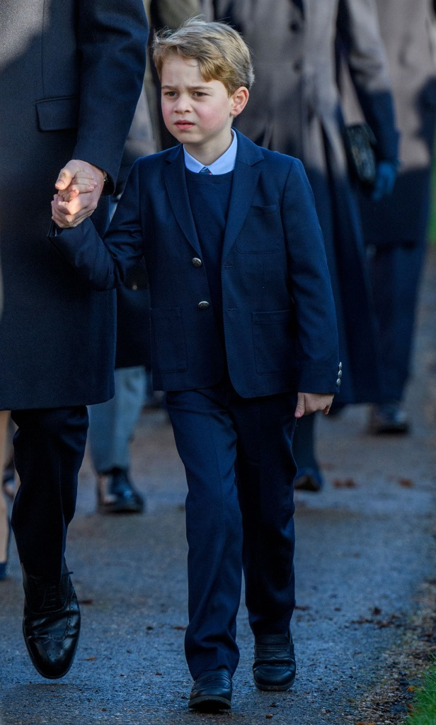 Prince George, suit, black loafers, tie, Christmas Day church service, Sandringham, Norfolk, UK - 25 Dec 2019