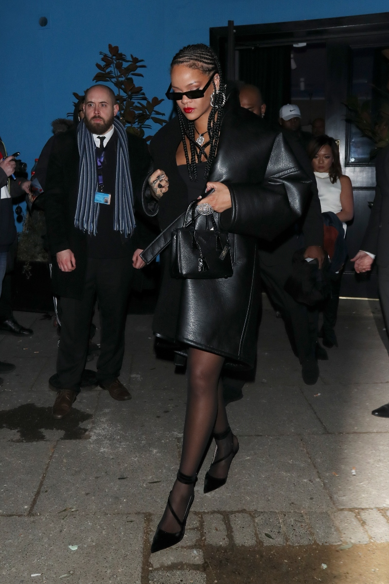 rihanna, british fashion awards, after party, london, all black, fenty