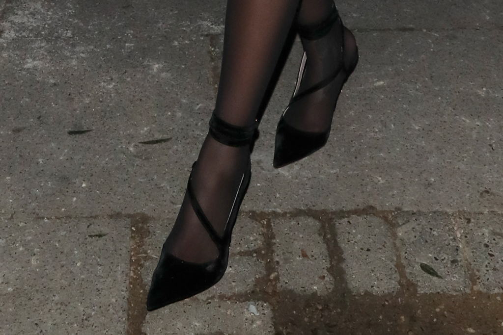rihanna, british fashion awards, after party, london, all black, fenty, heels