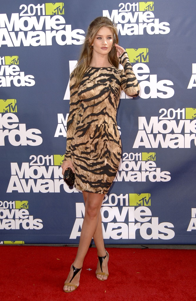 Rosie Huntington-Whiteley2011 MTV Movie Awards, Los Angeles, America - 05 Jun 2011
