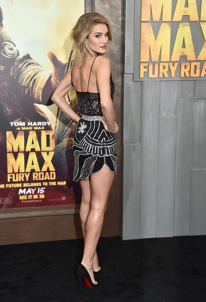 "Rosie Huntington-Whiteley arrives at the Los Angeles premiere of ""Mad Max: Fury Road"" at the TCL Chinese Theatre onLA Premiere Of ""Mad Max"" - Arrivals, Los Angeles, USA"