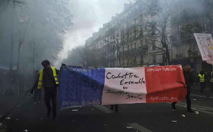 Protests in Paris on December 5.