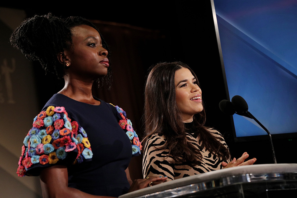 Danai Gurira and America Ferrera26th Annual Screen Actors Guild Awards Nomination Announcement, Pacific Design Center, Los Angeles, USA - 11 Dec 2019